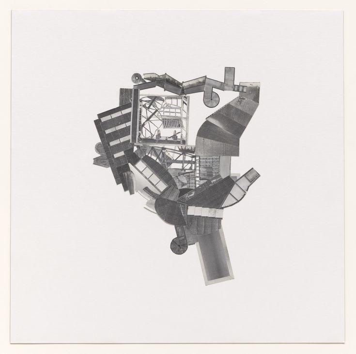 Jesse Reiser, Nanako Umemoto. Aktion Poliphile: Hypnerotomachia Ero/machia/hypniahouse, project, Wiesbaden, Germany, Plan of roof. 1989