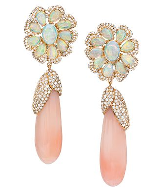 Cellini Jewelers #PinkOpal #earrings #jewelry