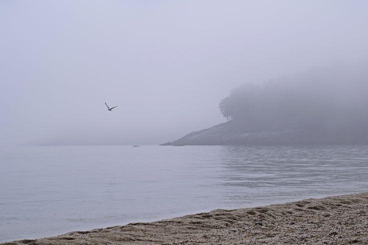 Papa Nero beach in fog, amazing feeling!