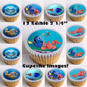 "Finding Nemo 2.25"" Edible Image Cup Cake Toppers-12pcs. cut & paste, no peel"