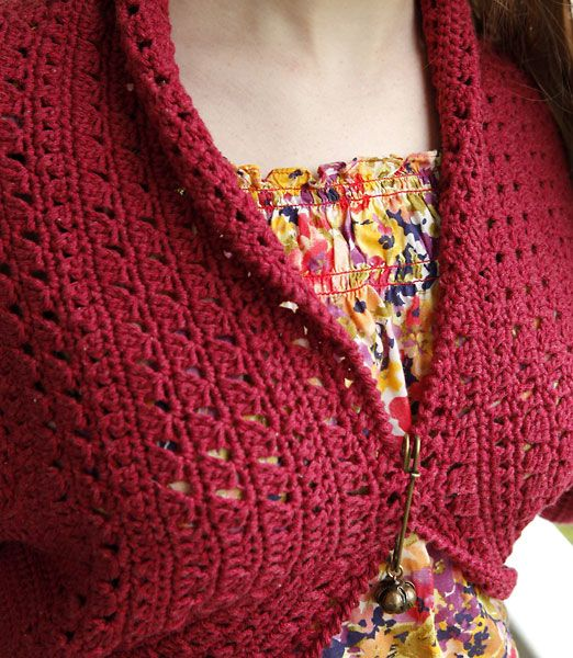 Crochet X-Stitch Shrug Free Pattern : Betty long sleeved shrug, free crochet pattern KNIT - Hooked on my ...