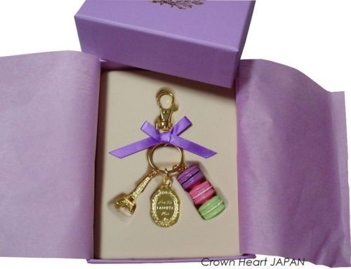 New LADUREE Keychain Ring Macaron Eiffel Tower Lilac Purple in Gift Box MARK'S