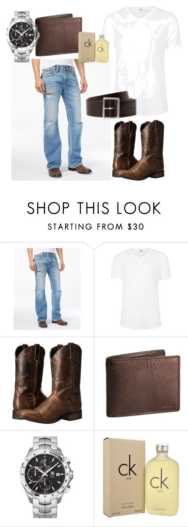"""Ladies Love Country Boys"" by thecamillekent ❤ liked on Polyvore featuring True Religion, Topman, Dingo, Lauren Ralph Lauren, TAG Heuer, Calvin Klein, country, men's fashion and menswear"