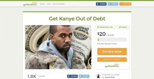 A GoFundMe Account Has Been Made For Kanye West