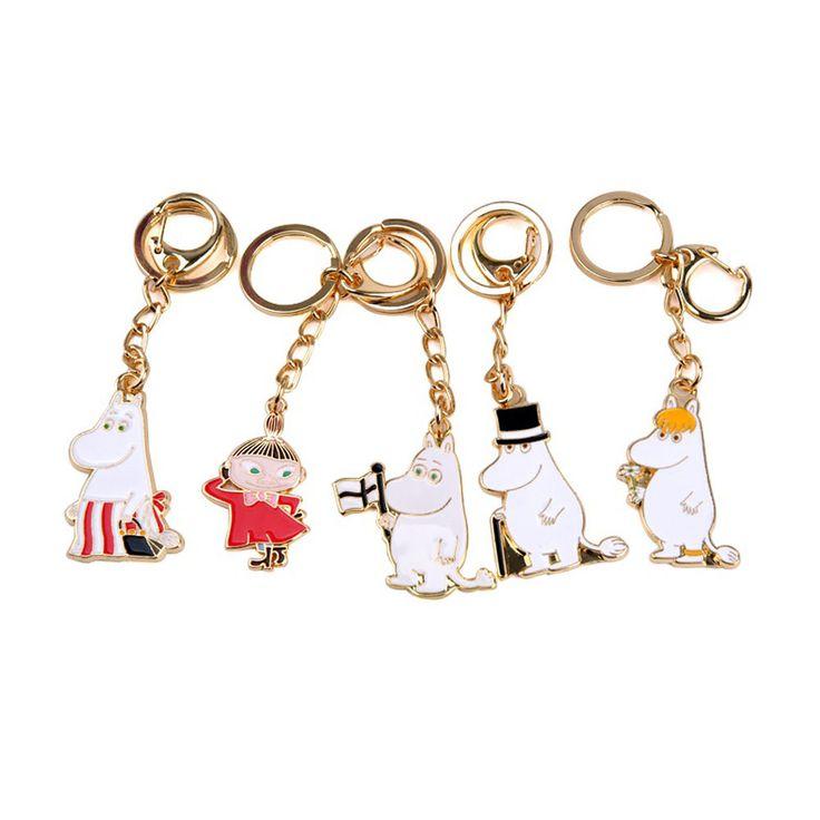 Moomin Papa Mama Snorkmaiden Character 4cm 1.5in Accessory Keyring Made In Korea #Moomin