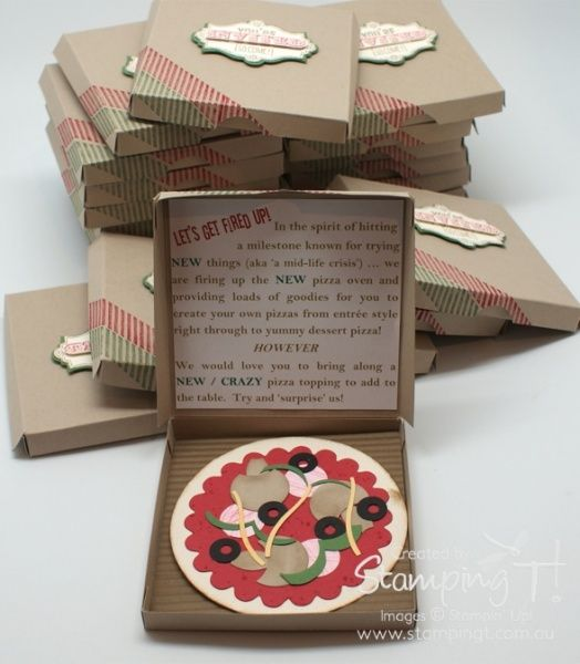 Stamping T! - Pizza Party Invitations (picture only; have to sign up for newsletter to go to website)