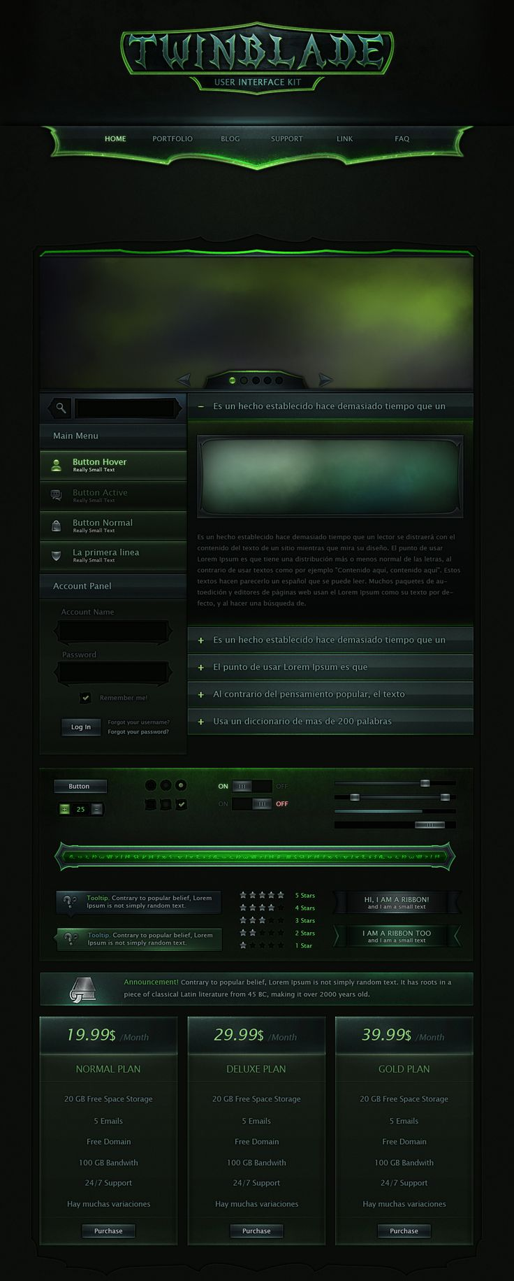Twinblade UI Kit by VengeanceMK1
