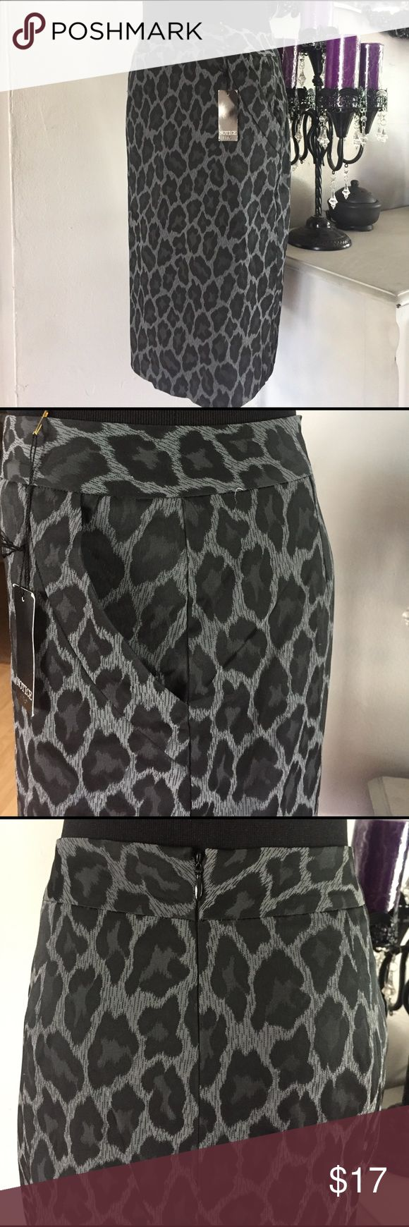 Gray Leopard Pencil Skirt Brand new | Grey | Leopard | Pencil Skirt.... you don't want t let this one go! IT HAS POCKETS!!! Perfect for any occasion!              ⚡️fast shipper.                                                                                         % bundle discount Skirts Pencil
