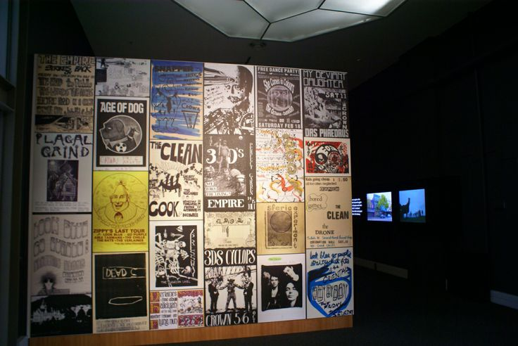 "Toitu - Otago Settlers Museum - Posters featuring some of the bands from ""The Dunedin Sound"""