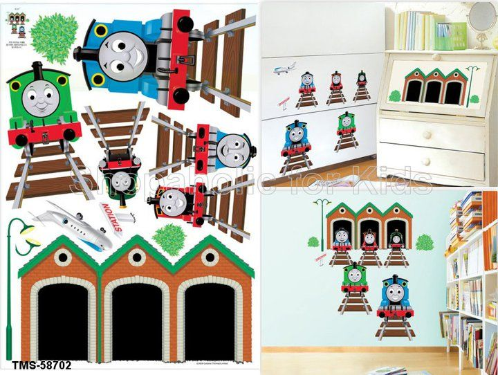 Thomas And Friends Wall Sticker Sticker Sheet Size: 50cm X 70cm Imported.  To Order