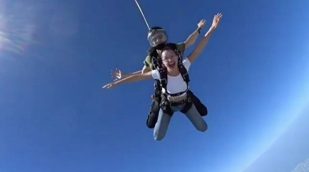Bella Hadid takes her fans to new heights as she shares amazing skydiving video - Mirror Online