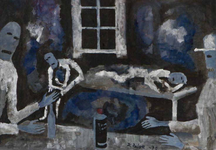 Kalervo Palsa: Tenu-ukkoja, 1970, guassi, 41x59 cm - Hagelstam K138