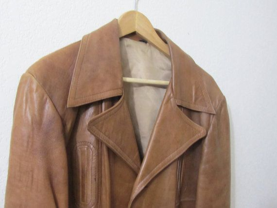 1970's Leather Jacket - Mod Lambskin Leather Coat w/ Lining L 44. I have something very similar.