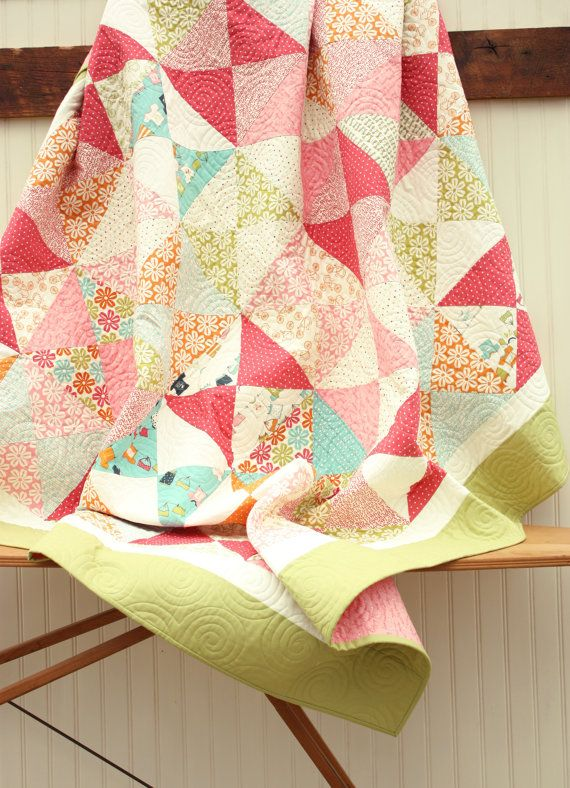 Lucy's Crab Shack Lap Quilt  Beach Cottage by CottonBerryQuilts