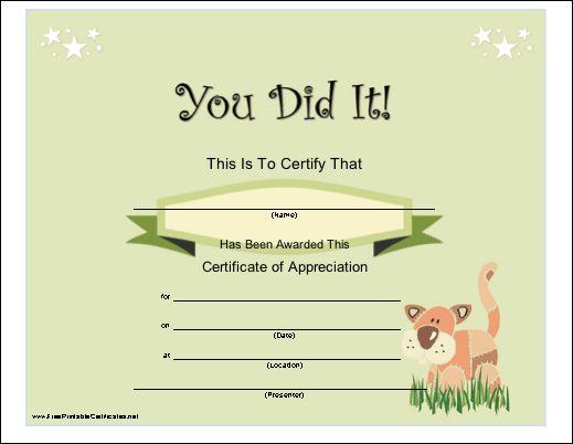 Congratulations Certificates Nfgaccountability  - printable congratulations certificate