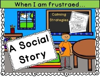 This is a when I get frustrated social story printable. If a students has difficult behavior due to frustration this is the book for you. It gives the students alternatives to getting upset and acting out.Social stories can be a behavior intervention for those students with special behavior needs.All pages are black and white and are able to be colored in by the student.