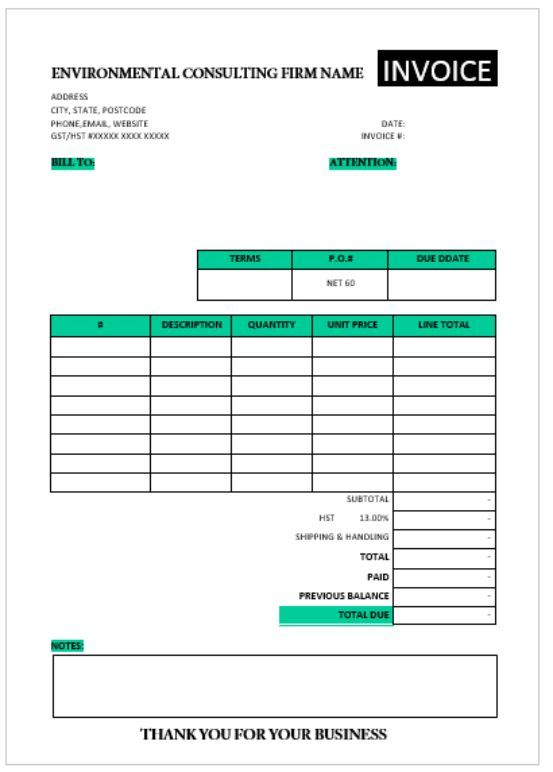 Free Consulting Invoice Template Consulting Invoice Template - what is invoice po number