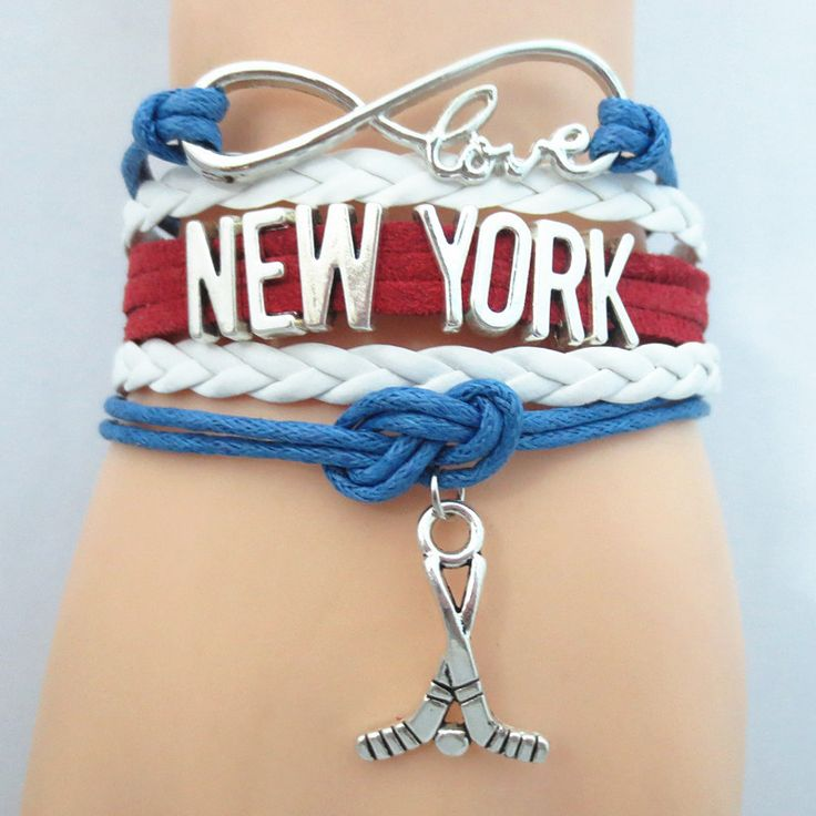 TODAY'S SPECIAL OFFER BUY 1 OR MORE, GET 1 FREE - $19.99! Limited time offer - Infinity Love New York Rangers Hockey Team Bracelet on Sale. Buy one or more bracelets and we will give you one extra bra