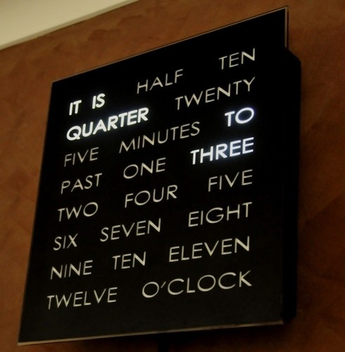 Great clock! Much more interesting than the usual type!