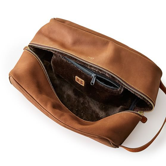 Leather Sunday Golf Shoe Bag