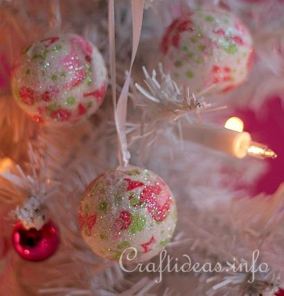 Decopatch Christmas Baubles using polyballs