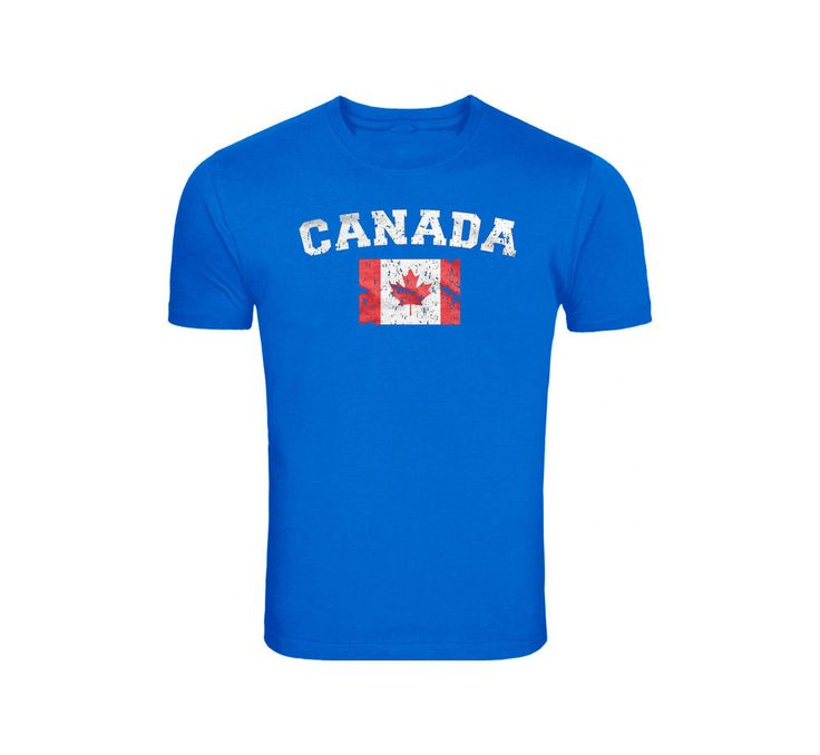 Canada Distressed Canadian Pride Flag World Cup Soccer Olympics Mens T-Shirt #NA #GraphicTee