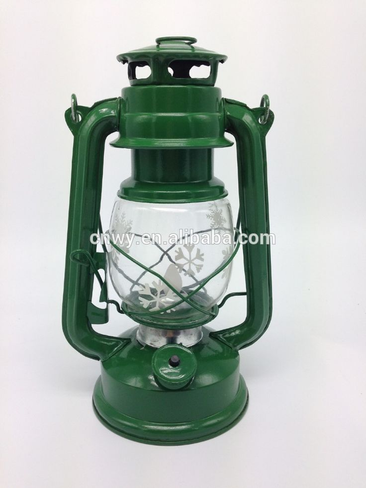 LED Hurricane Lantern with dancing flame