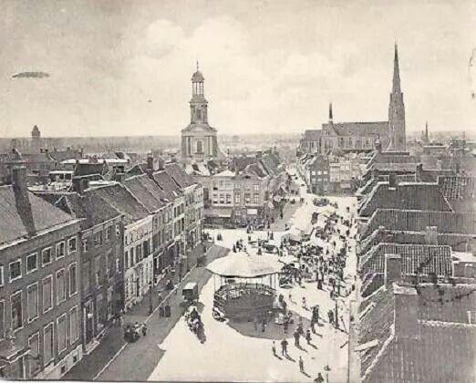 De Grote Markt in Breda, 1906