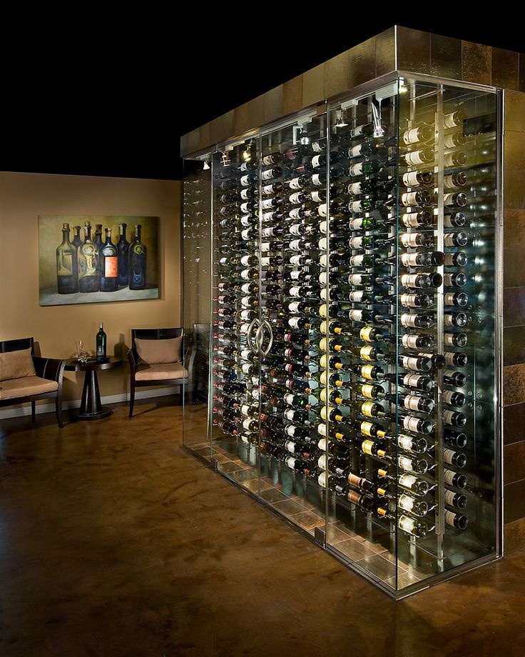 25 best ideas about glass wine cellar on pinterest cava glasses contemporary wine glasses - Small space wine racks design ...