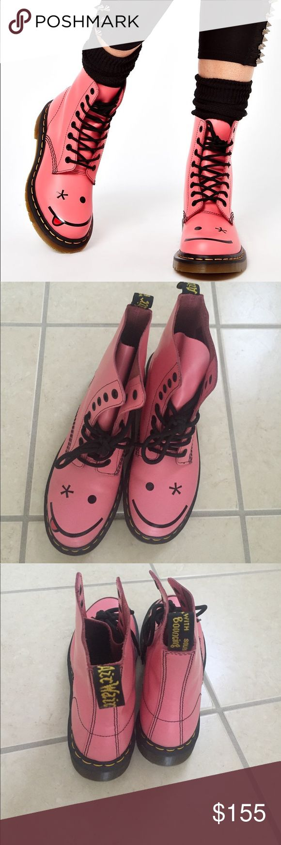 Revista 2 rodas.doc - New Dr Doc Martens Hincky Smiley Boots Acid Pink Brand New Never Worn