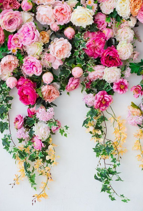 Wedding Flowers Wall Photography Backdrop Studio Portraits Floral Dector Photoshoot Background Newborns B Flower Wall Wedding Flower Wall Backdrop Flower Wall