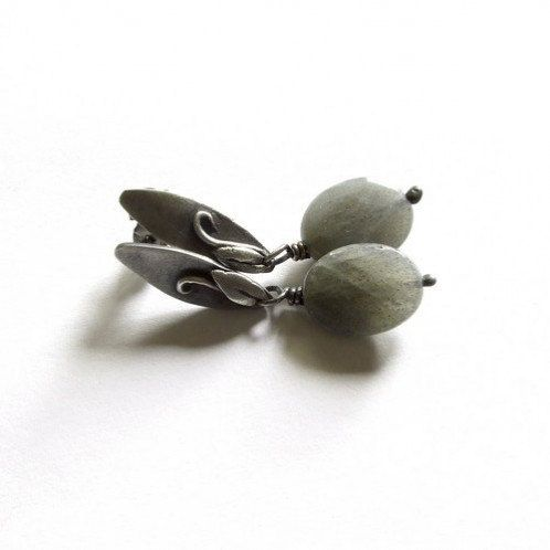Little Lilly  pin silver earrings with by kasiasobieszczyk on Etsy, $58.00