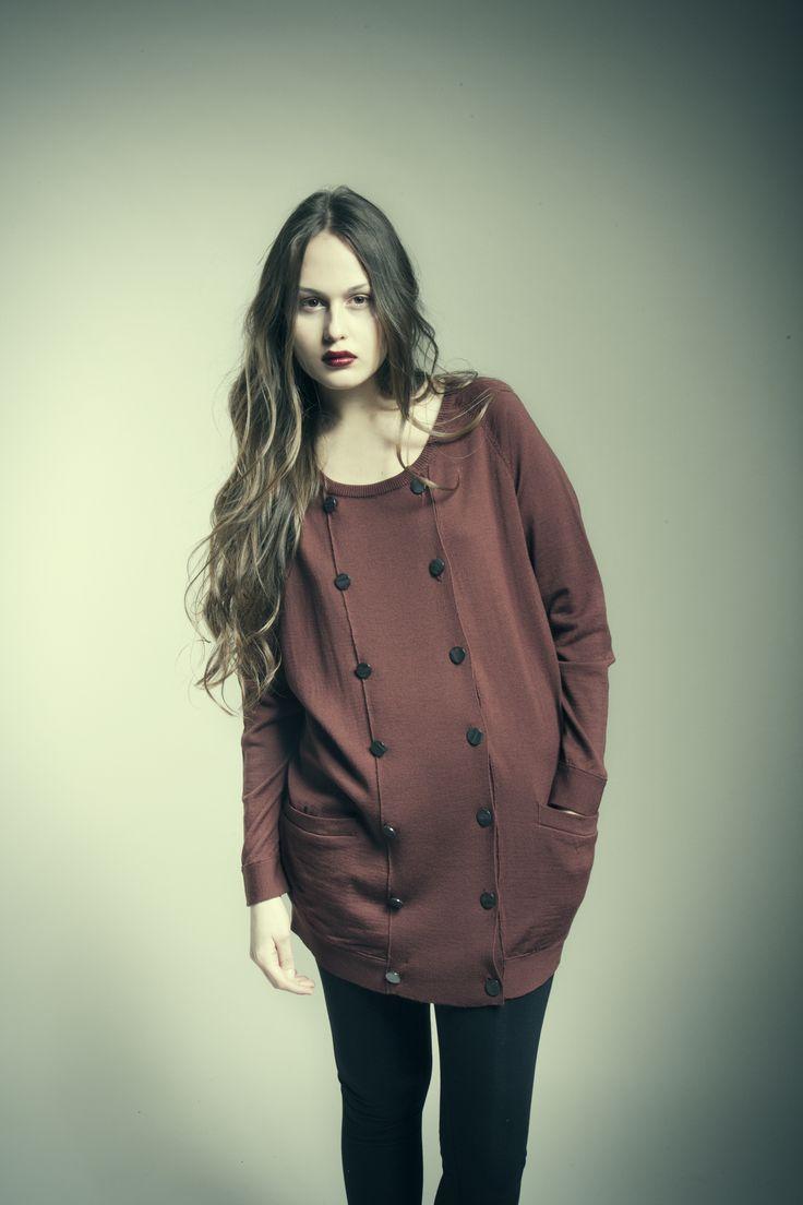 MASKA Soraya double-breasted cardigan | 100% fine Merino wool | Knitted in Latvia