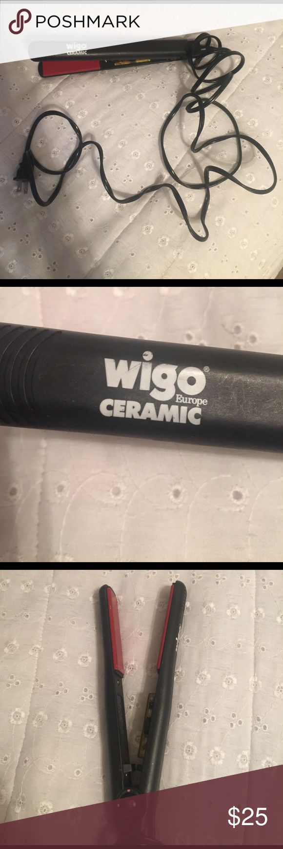 """Wigo Ceramic Hair Styler 1"""" Wigo Europe Ceramic Hair Styler, favorite straightener! I was recently given a Chi I don't need two, this works great and is in good condition. This is a 1"""". Very long cord easy to work with when styling your hair. Accessories"""