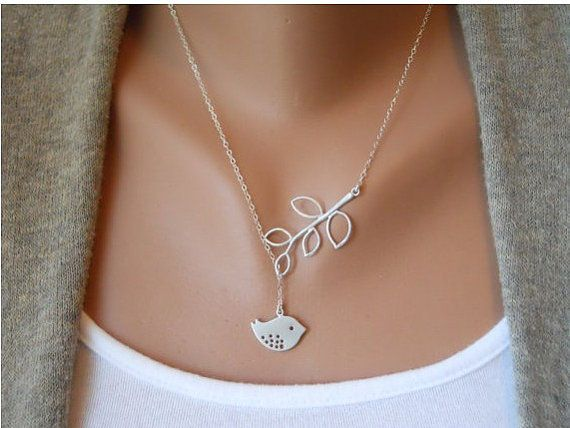 Fashion Adjustable Silver Bird branches Clavicle by sevenvsxiao, $6.59