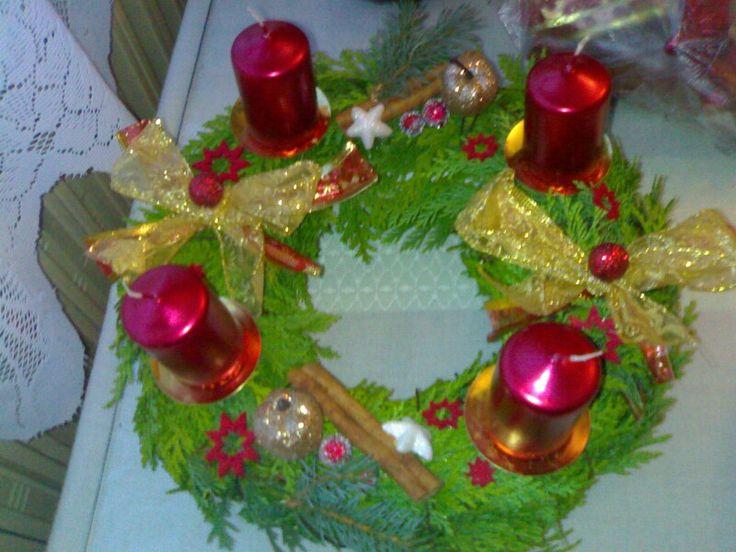 Adventní věnec- Advent wreath