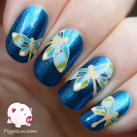 Blue dragonflies for Autism Awareness via #piggieluv #nails #nailart  #glossy - bellashoot - 66 Best Dragonfly Nail Designs Images On Pinterest Pretty Nails