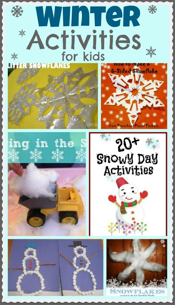Lots of FUN Winter Activities for Kids!