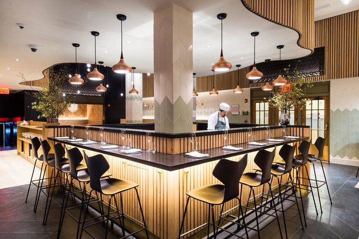 Claus Meyer's restaurant Agern in Grand Central Station in NY. Tiles clay: Wall - Customized colors of glaze 30x10