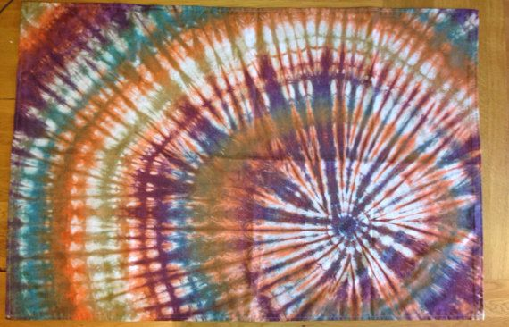 Tie Dye 'Dreaming in the woods' Wall Hanging on Etsy, £10.00