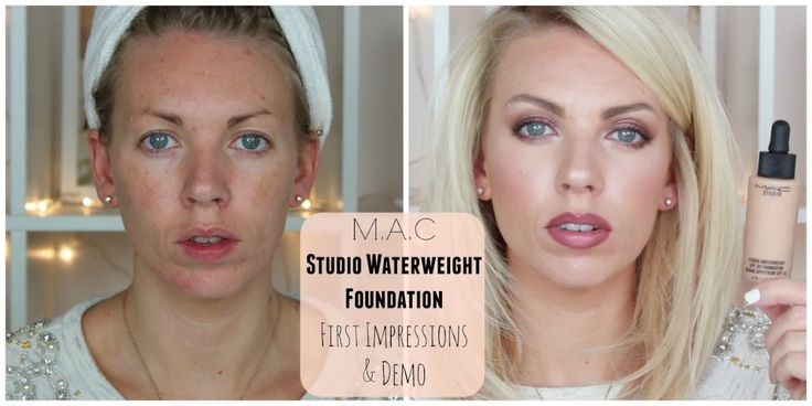 MAC Studio Waterweight Foundation ♡ First Impressions & Demo