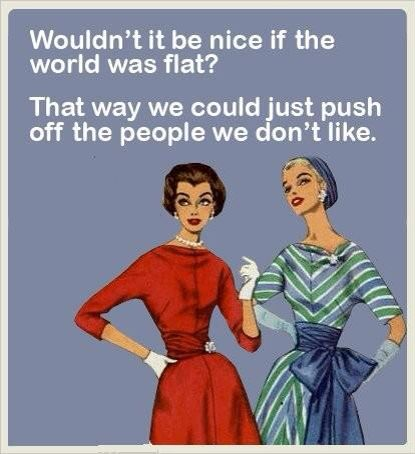 We could just push off the people we don't like! LOL