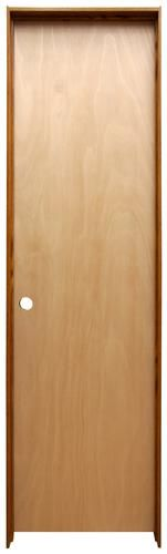 "Mastercraft® Ready-to-Finish Hardwood Hollow Prehung Interior Door at Menards®: Mastercraft® 24"" W x 80"" H Ready-to-Finish Hardwood Hollow Core Prehung Interior Door - Right Inswing"
