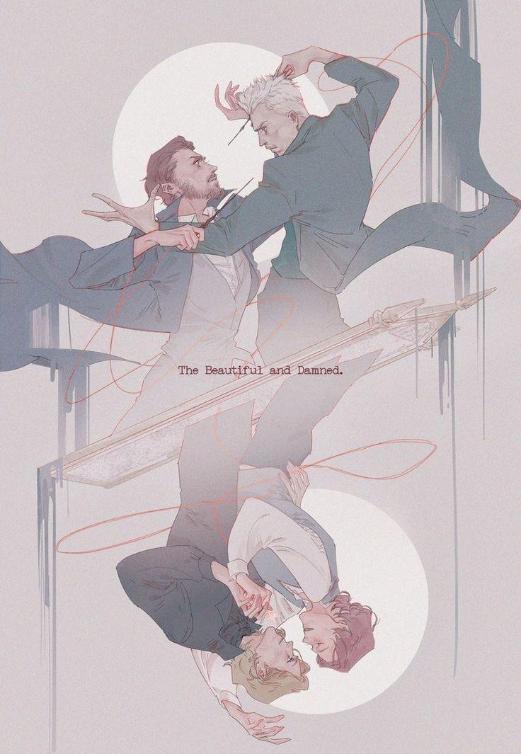 Albus & Gellert | I doubt Grindelwald ever loved Dumbledore back but, hey! A gir…