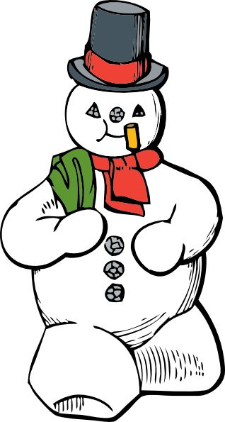 snowmen | Snowman clip art - vector clip art online, royalty free & public ...