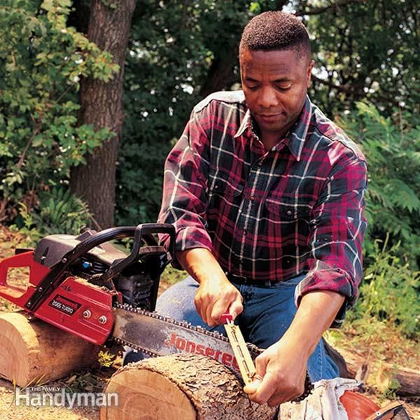 <p>is your dull chain saw blade burning and bucking its way through the wood? it's a slow way to cut. it's also a dangerous way to cut. here's how to sharpen your chain saw blade and cut more quickly�and avoid messy chain saw accidents.</p>