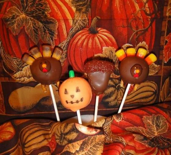 Fall cake pops | Cuppy Cakes and Creations: Fall Cake Pops!