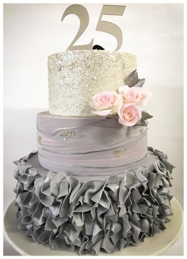 25th Anniversary cake by Homebaker | 25th wedding ...