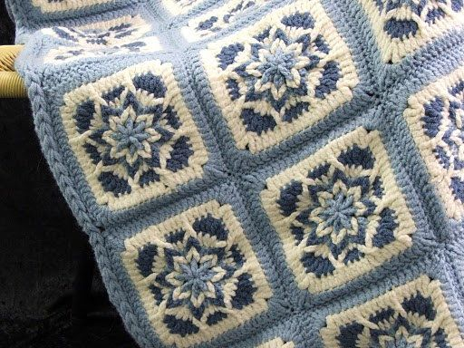 Blue Star Afghan, beautiful pattern, but not free.
