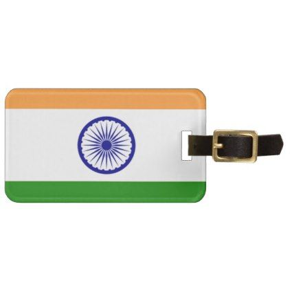 """Good color Indian flag """"Tiranga"""" Luggage Tag - good gifts special unique customize style"""